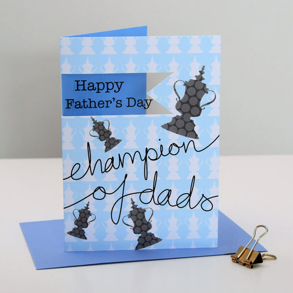 Father's Day Card, Champion, Happy Father's Day, See through acetate window