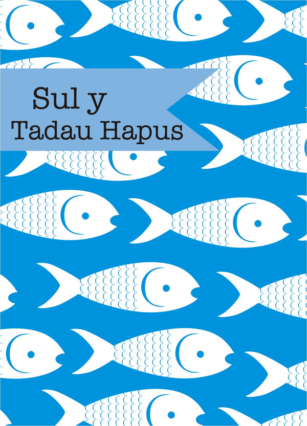 Welsh Father's Day Card, Sul y Tadau Hapus, Fishes, See through acetate window