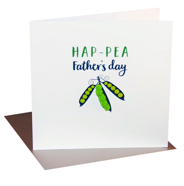 Father's Day Card, Pea Pods Hap-pea Father's Day, colourful pompom embellished