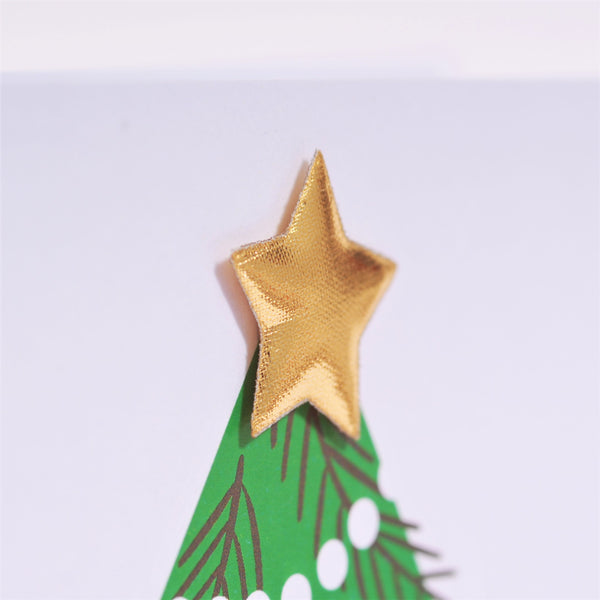 Christmas Card, Christmas Tree, Noel, Embellished with a shiny padded star