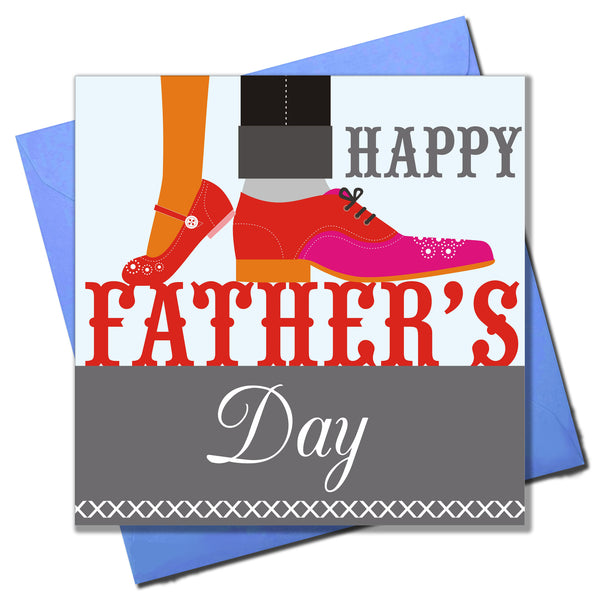 Father's Day Card, Multi-Coloured Shoes, Happy Father's Day