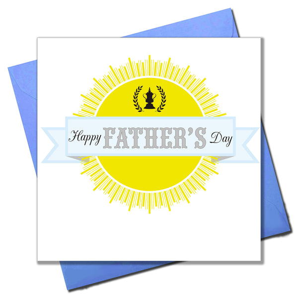 Father's Day Card, Sun and Ribbon, Happy Father's Day