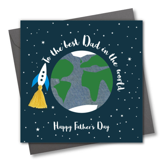 Father's Day Greeting Card, Best Daddy, Embellished with a colourful tassel
