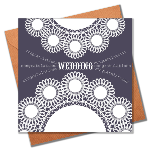 Wedding Card, Doilies, Wedding Congratulations