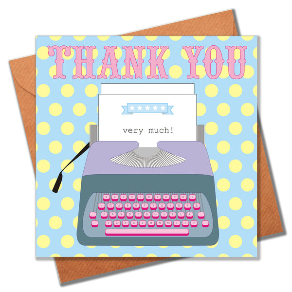 Thank You Card, Typewriter, Thank You Very Much!