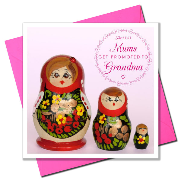 Mother's Day Card, Dolls, Promoted to Grandma