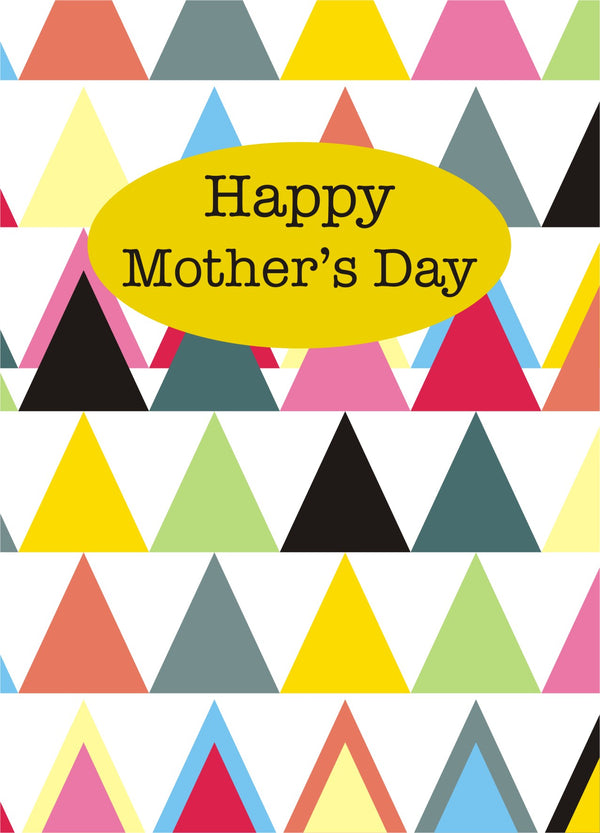 Mother's Day Card, Triangles, Happy Mother's Day, See through acetate window
