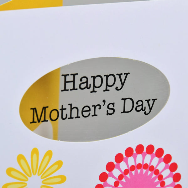 Mother's Day Card, Flowers, Happy Mother's Day, See through acetate window