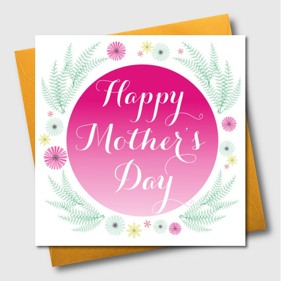 Mother's Day Card, Spring Flowers, Open