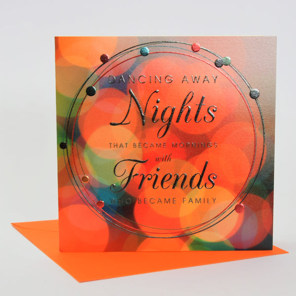 Birthday Card, Coloured Lights, Embossed and Foiled text