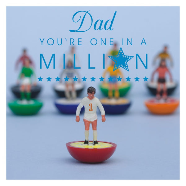 Father's Day Card, Subbuteo, Dad you're one in a Million