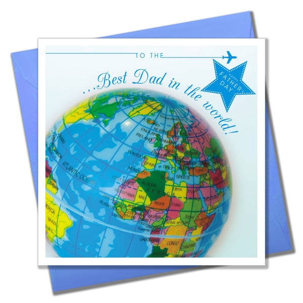 Father's Day Card, Globe, Best Dad in the World