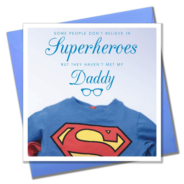 Father's Day Card, Superman, Superhero Daddy