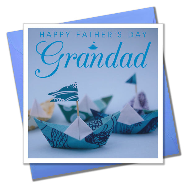 Father's Day Card, Paper Boats, Happy Father's Day Grandad