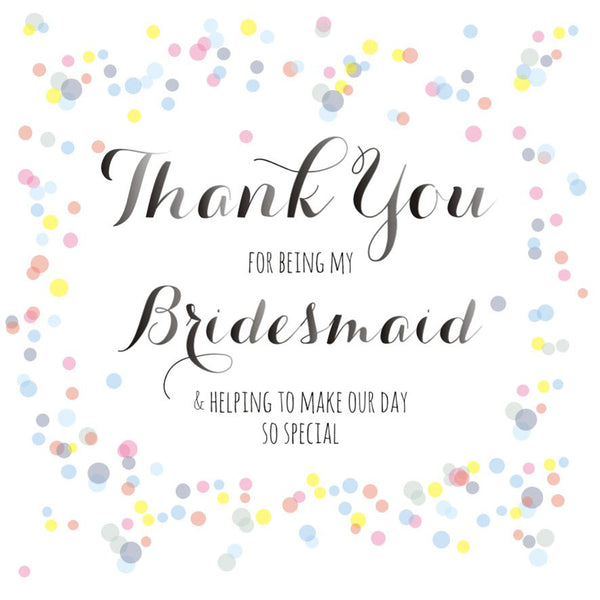 Wedding Card, Dors, Thank you for being my Bridesmaid
