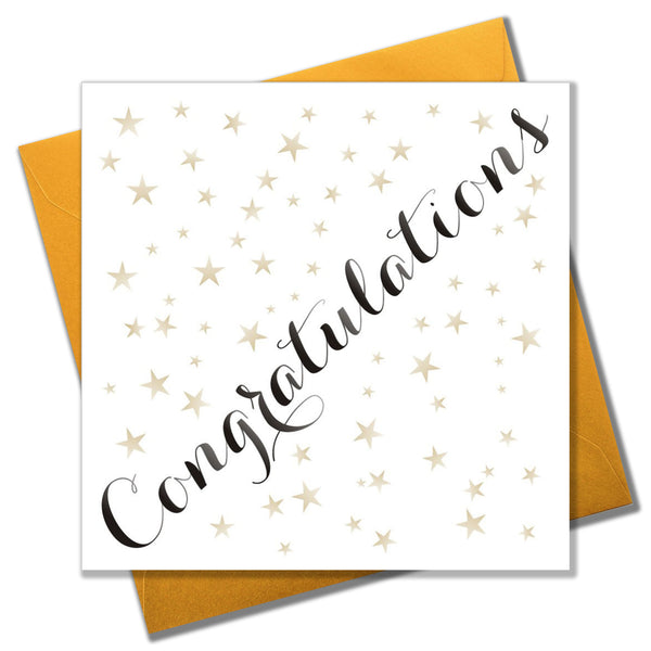Congratulations Card, Gold Stars