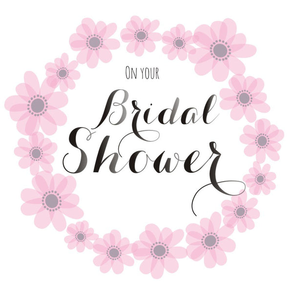 Wedding Card, Pink Flowers, On your Bridal Shower
