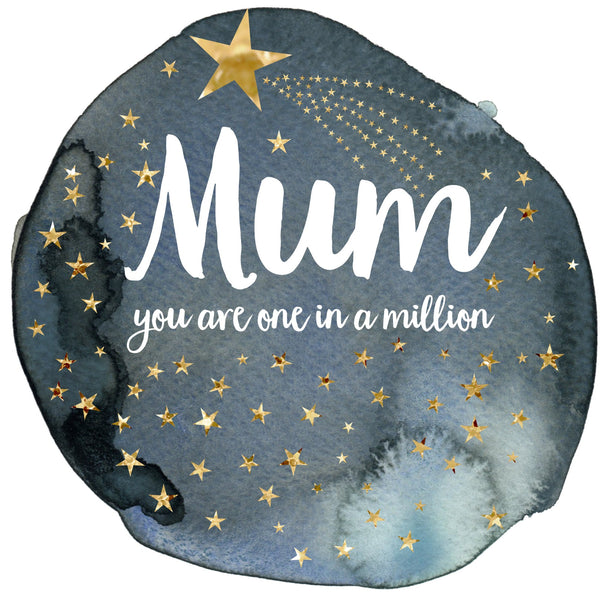 Mother's Day Card, Star, Mum you're 1 in a million