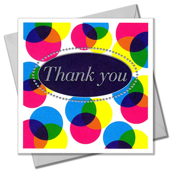 Thank You Card, Colours, Thank You, Embossed and Foiled text