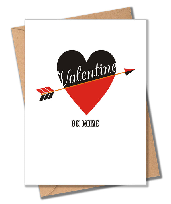 Valentine's Day Card, Be Mine, Valentine Be Mine