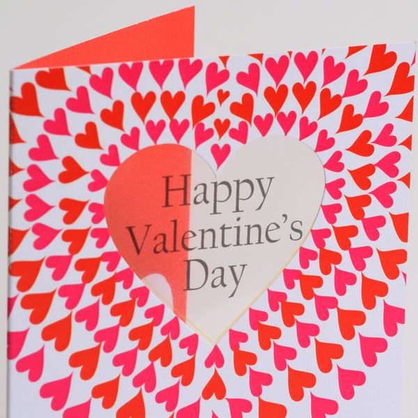 Valentine's Day Card, Forever and Always, See through acetate window