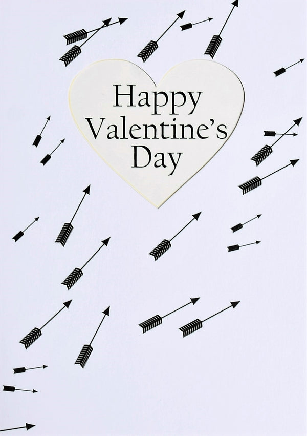 Valentine's Day Card, Arrows, Happy Valentine's Day, See through acetate window