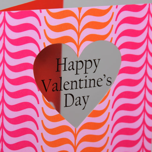 Valentine's Day Card, Symetrical leaves, See through acetate window