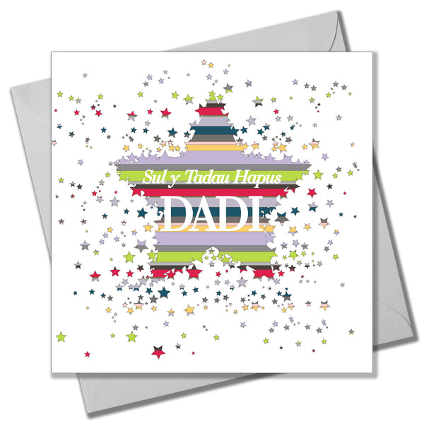 Welsh Father's Day Card, Sul y Tadau Hapus, Dadi, , Hugs and Kisses