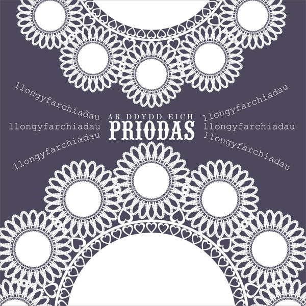 Welsh Wedding Card, Doilies, Wedding Congratulations