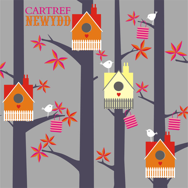 Welsh New Home Card, Bird Houses, New Home