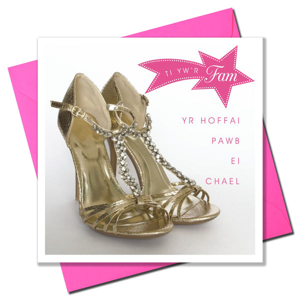 Welsh Mother's Day Card, Sul y Mamau Hapus, Shoes, Mum everyone wishes they had