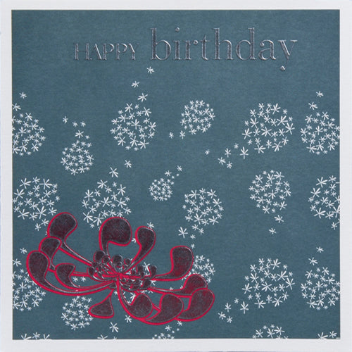 Birthday Card, Birthday, Embossed and Foiled text