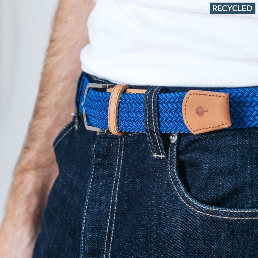 Belt In Canvas And Recycled Polyester Blue