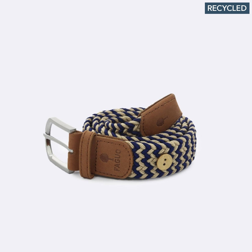 Belt In Canvas And Recycled Polyester Blue & Beige product shot