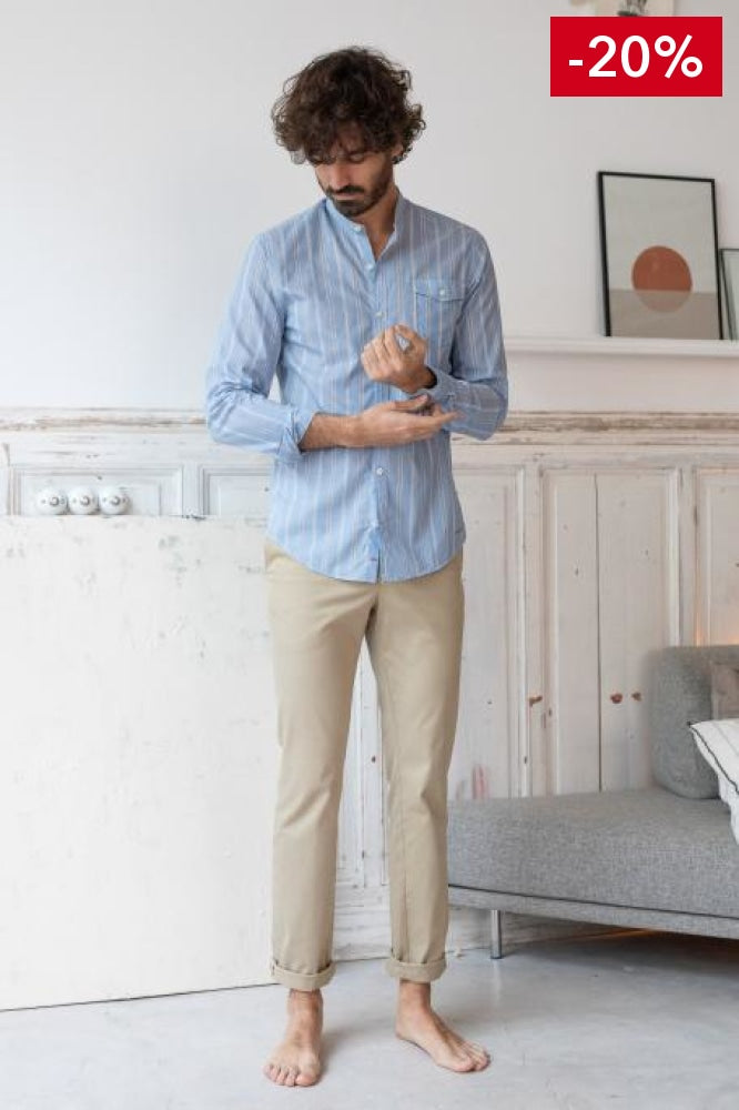 Nice men shirt light blue on model