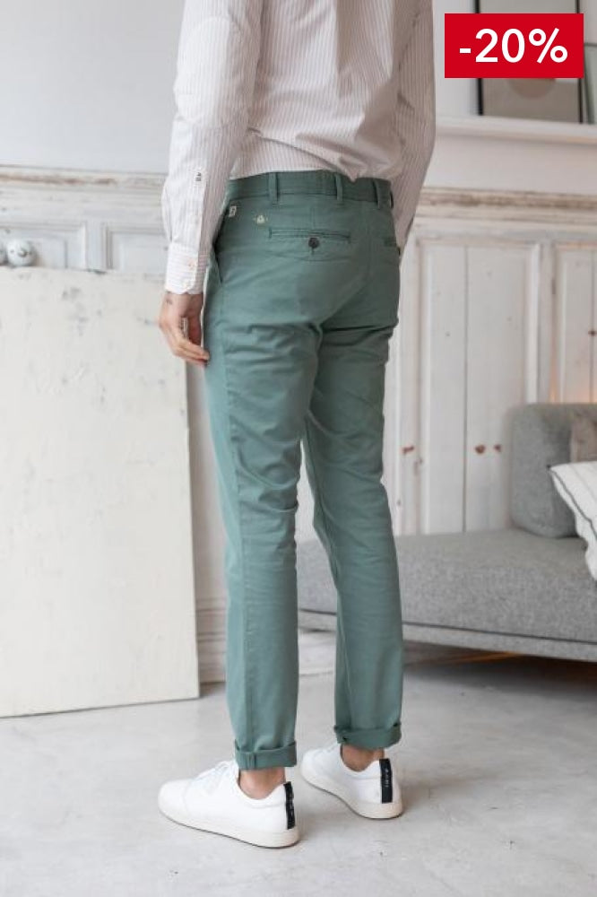 Nice pant for men green back view