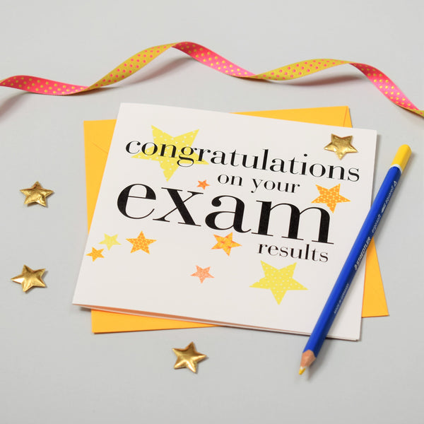 Congratulations Card, exam results, Embellished with a padded star