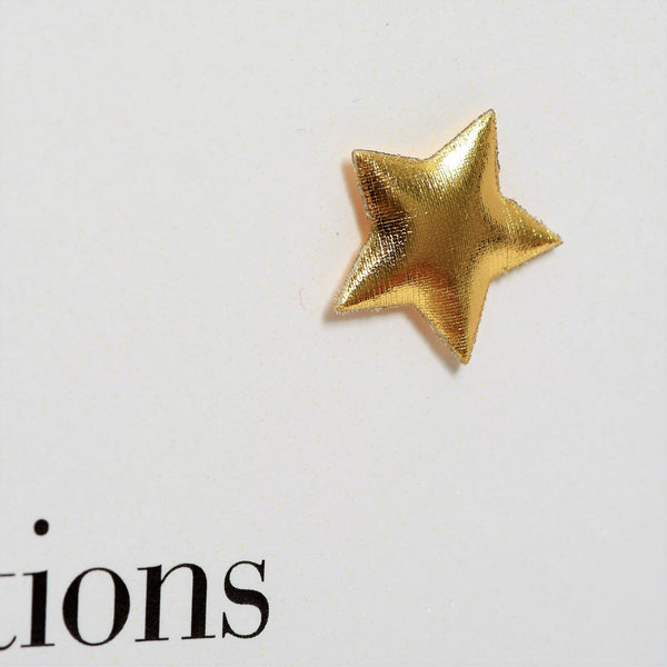 Congratulations Graduation Card, Embellished with a padded star