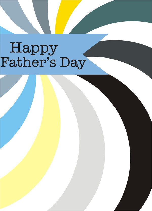Father's Day Card, Spiral, Happy Father's Day, See through acetate window