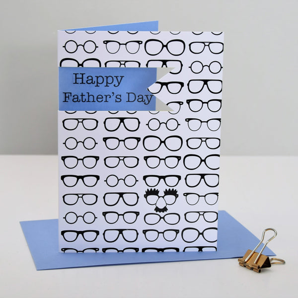 Father's Day Card, Glasses, Happy Father's Day, See through acetate window