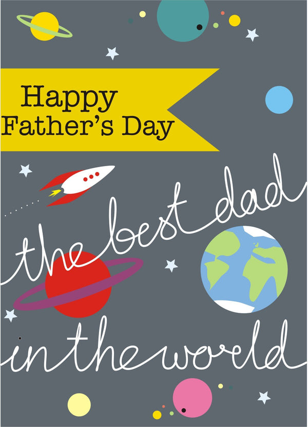 Father's Day Card, Space, Happy Father's Day, See through acetate window