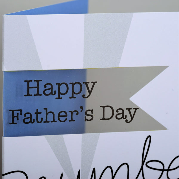 Father's Day Card, Number 1, Happy Father's Day, See through acetate window