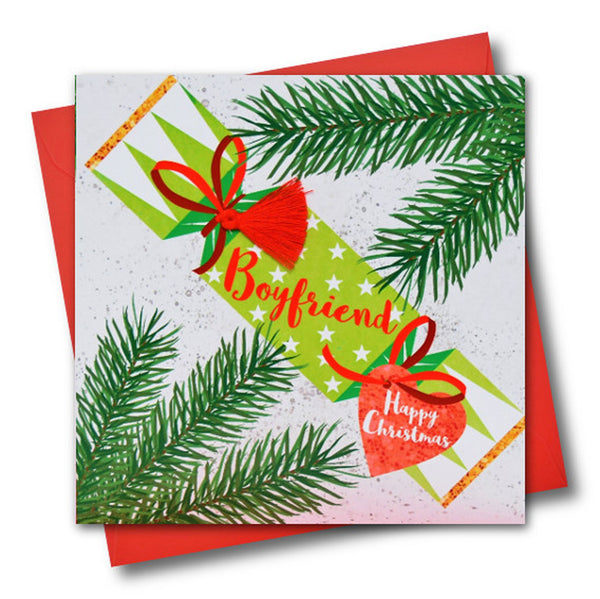 Christmas Card, Cracker, Boyfriend, Happy Christmas, Tassel Embellished