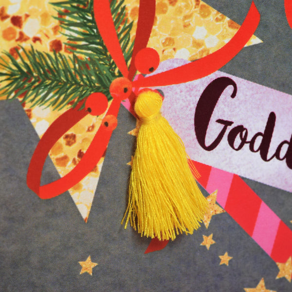 Christmas Card, Wand, Christmas Wishes, Goddaughter, Tassel Embellished