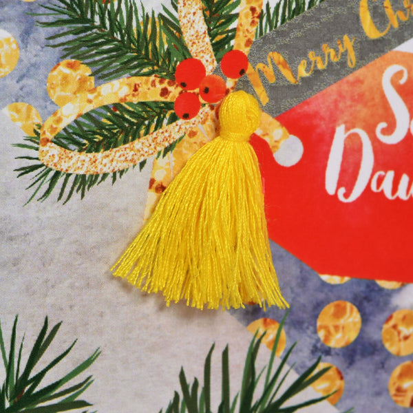 Christmas Card, Cracker, Son and Daughter in law, Tassel Embellished