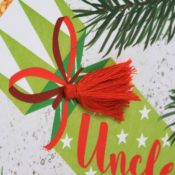 Christmas Card, Cracker, Uncle, Happy Christmas, Tassel Embellished