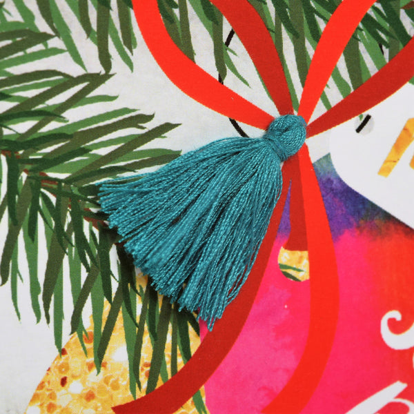 Christmas Card, Bauble, Sister and Brother in law, Tassel Embellished