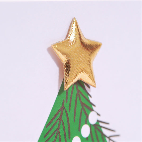 Christmas Card, Christmas Tree, Son, Embellished with a padded star