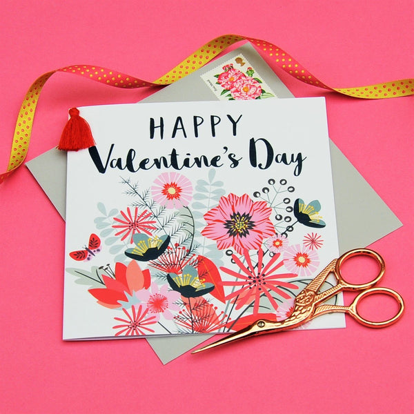 Valentine's Day Card, Heart of Hearts, Embellished with a colourful tassel
