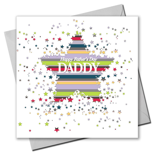 Father's Day Card, Star Burst, Happy Father's Day Daddy